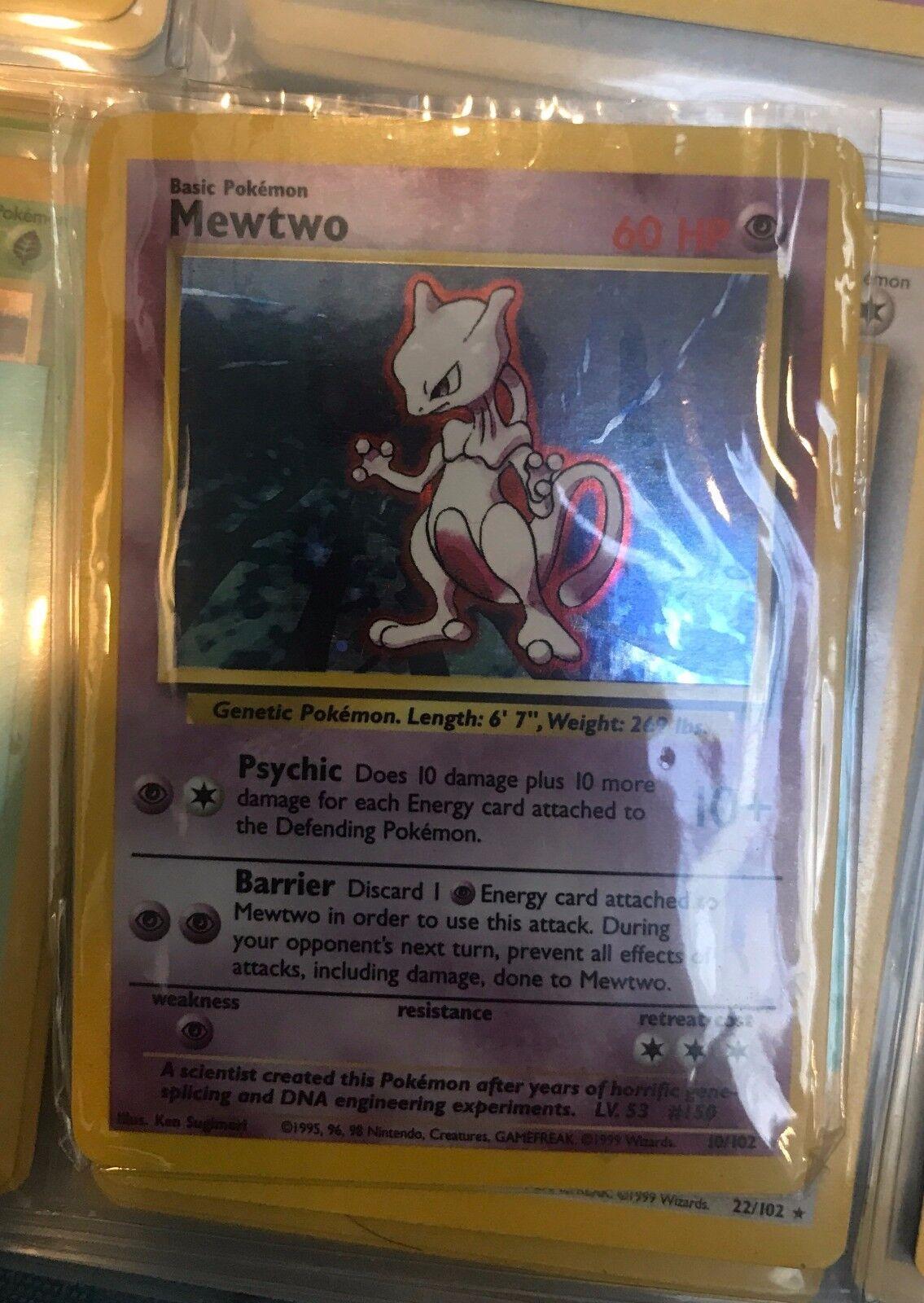 Mewtwo 1995 Rare Holographic Holographic Holographic Pokemon Card 7c377f