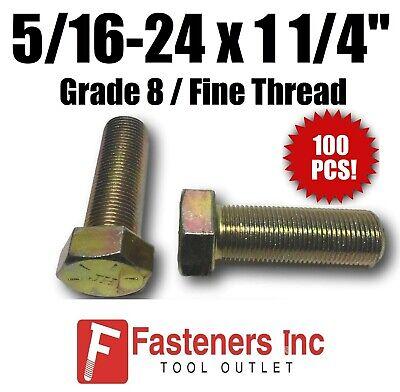 Hex Head 1//2-20 x 1-1//8 Fine Thread Bolts Grade 5 Cap Screws 100