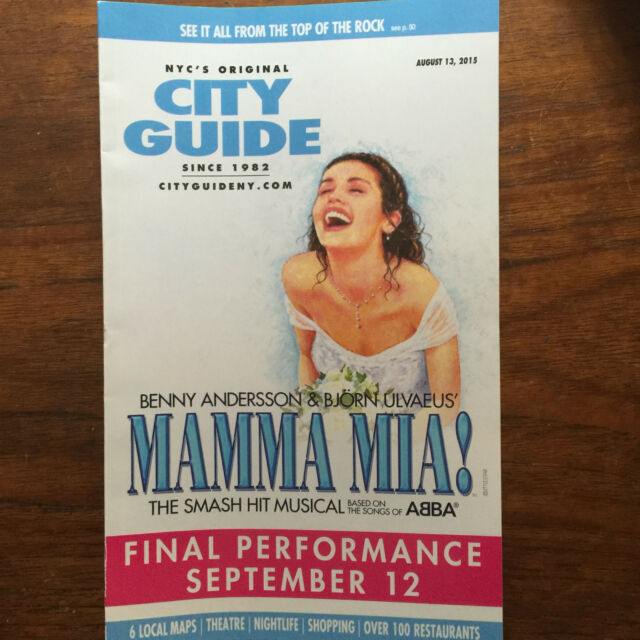 Mama Mia Broadway NYC City Guide August 2015 closing
