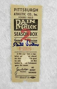 Bill-Virdon-Signed-1950-039-s-Forbes-Field-Pittsburgh-Pirates-Ticket-Stub