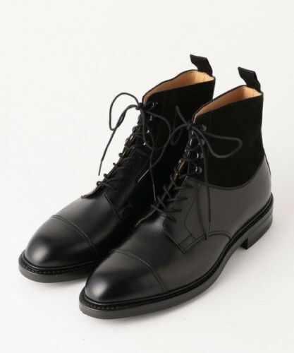 Herren HANDMADE LEATHER & SUEDE LACES UP UP UP TWO TONE Stiefel  Herren CASUAL DRESS Stiefel 1a1600