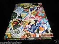 "Premier 10"" Vintage World Postage Stamp Album Collection Book 8pages 200+ stamps"