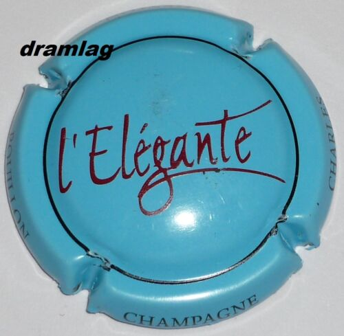 CHARLES HESTON cuvé l/'élégante n°6 Capsule de Champagne :  SIX COTEAUX