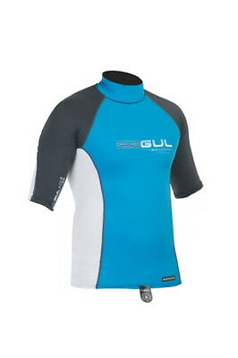GUL XOLA MEN SHORT SLEEVE RASH VEST RASH GUARD diving jetski bodyboard sailing