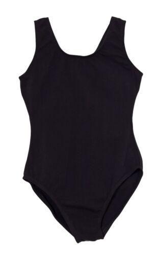 New Basic Moves Girls Child Black Tank Dance Ballet Leotard Size Cotton