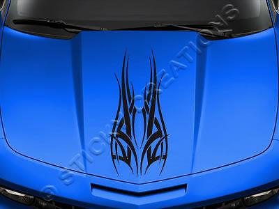 #126 HOOD GRAPHIC Decal Sticker Tribal Vinyl Design Car