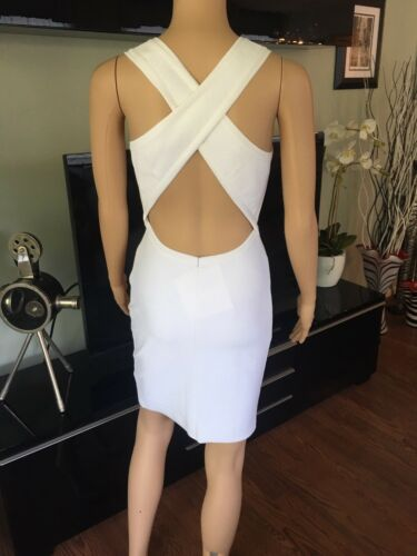 Azzedine Alaia Sexy Fitted Open Back White Dress - image 1