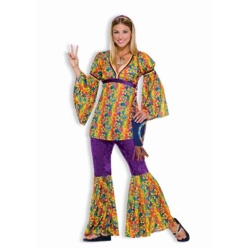 WOMANS COSTUMES60/'s 70/'s HippieS DRESS PURPLE HAZE HIPPIE FLOWER POWER@MOREEEEE