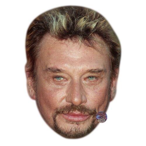 Card Face and Fancy Dress Mask Johnny Hallyday Celebrity Mask