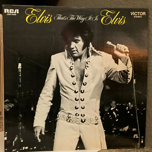 "ELVIS PRESLEY - That's The Way It Is (RCA LSP-4445) - 12"" Vinyl Record LP - VG"