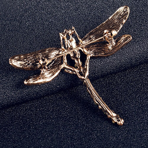 AM/_ New Charming Jewelry Women/'s Vintage Noble Dragonfly Crystal Scarf Pin Brooc