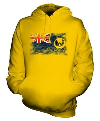 SOUTH AUSTRALIA DISTRESSED FLAG UNISEX HOODIE TOP AUSTRALIAN JERSEY GIFT