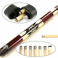 Jonny 8 Ball Ruby Riss Double Shaft Ash Pool Cue & Case – Choose Two Shafts