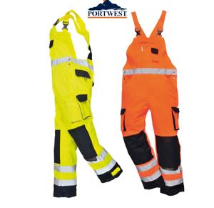 Portwest Men Dijon Hi-Vis Bib and Brace TX52