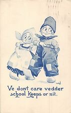 POSTCARD  COMIC   DUTCH  KIDS  Ve  don't care......