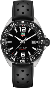 TAG-HEUER-WAZ1110-FT8023-Formula-One-Black-Rubber-Strap-Men-039-s-Wrist-Watch