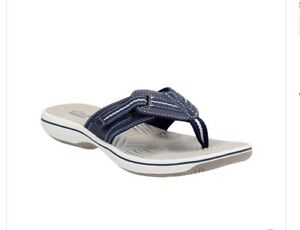 ce1f7e27b01d Image is loading Clarks-Sandals-Brinkley-Jazz-Womens-Flip-Flop-Size-