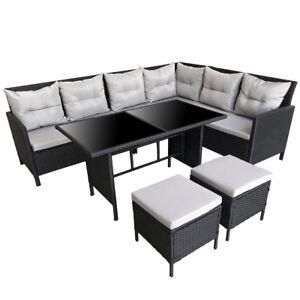 Svita Polyrattan Gartenmöbel Poly Rattan Dining Lounge Gruppe Set