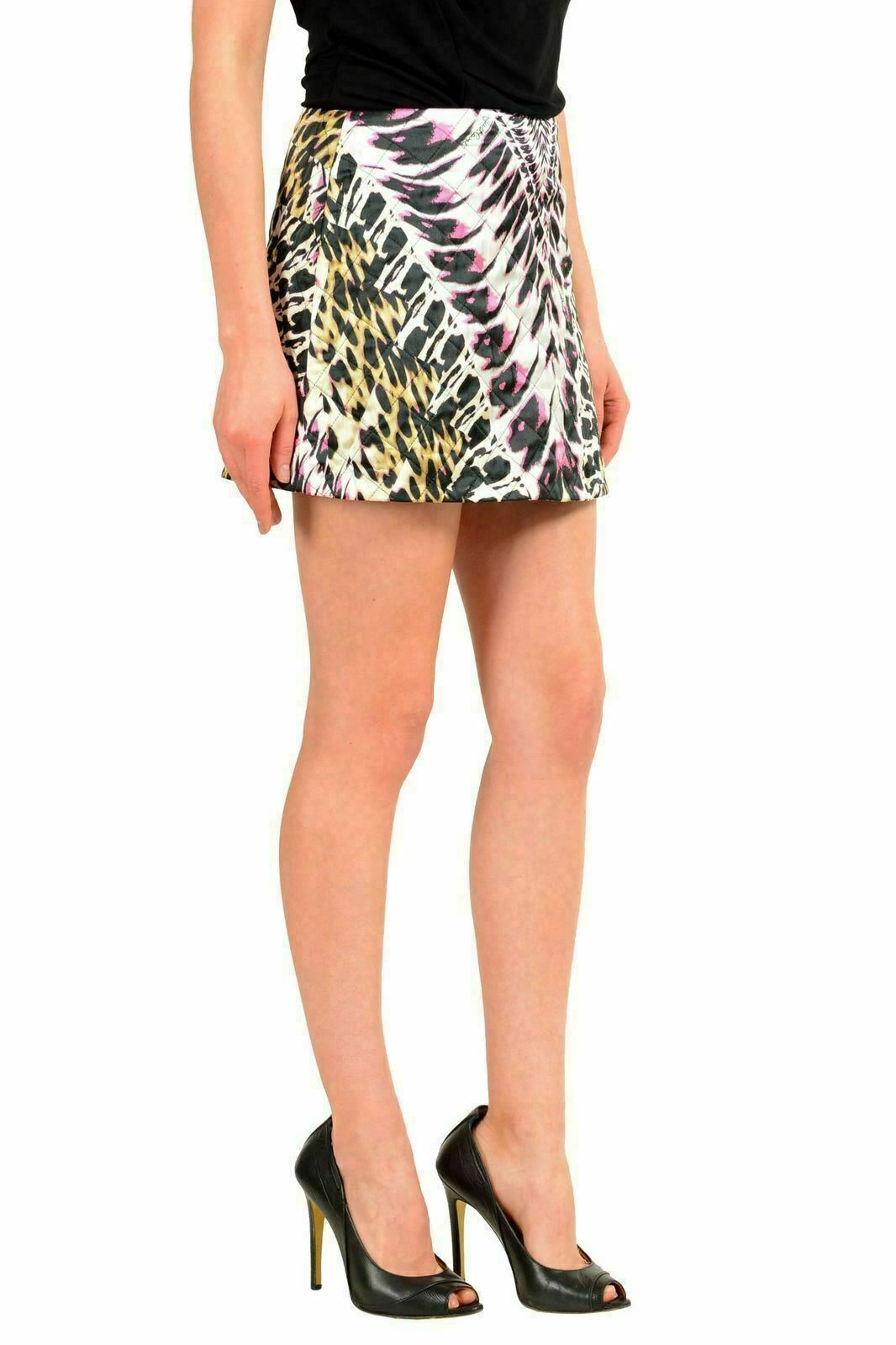 Just Cavalli Seta Multicolore Donna Minigonna USA S S S It 40 4bc96b