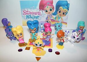 Details about Nick Jr  Shimmer and Shine Figure Set of 12 w/ Leah, Zac,  Zeta and 5 Genie Gems