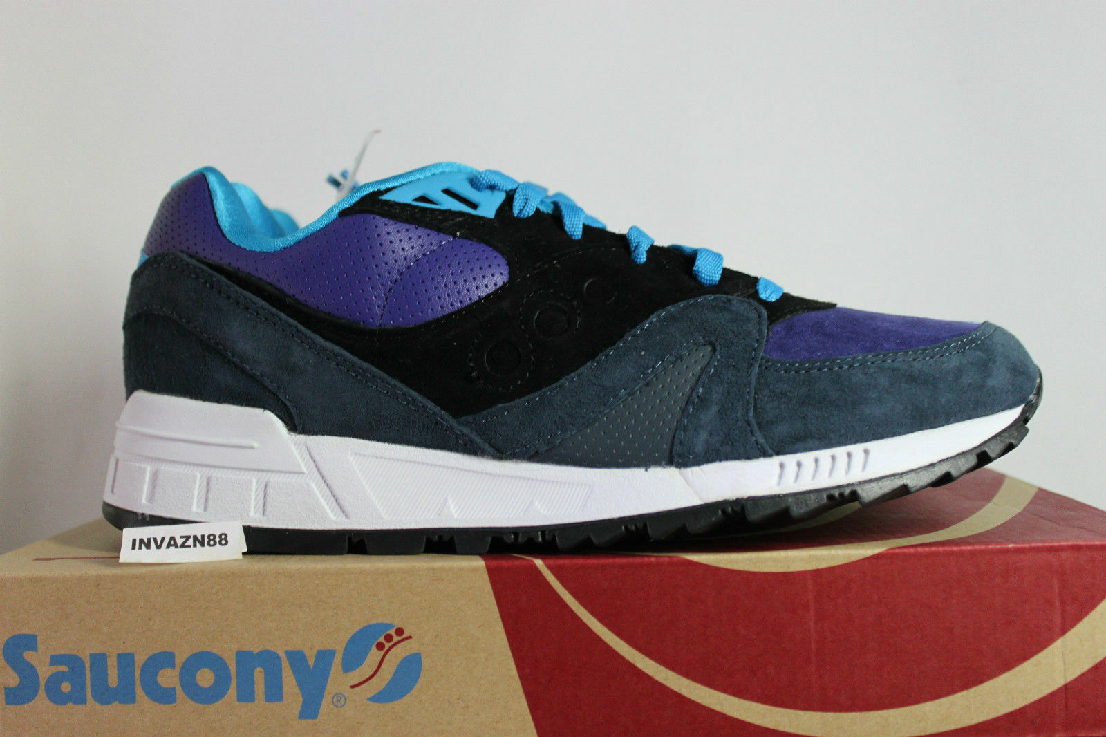 SAUCONY X HANON SHADOW MASTER MIDNIGHT RUNNER BLACK PURPLE SIZE 10