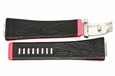 NIKE MERGE STEP BLACK PINK REPLACEMENT RUBBER WATCH BAND WC0027 003