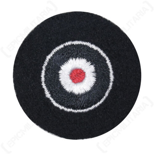 Cockade Hand embroidered Black WW2 Repro German Badge Patch Insignia Uniform
