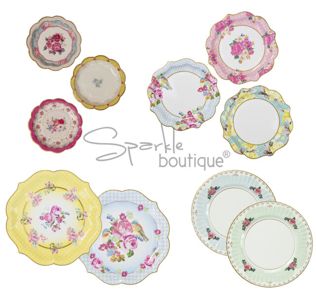 LUXURY PAPER PLATES - Shabby Chic / Vintage Style for Afternoon Tea or Hen Party