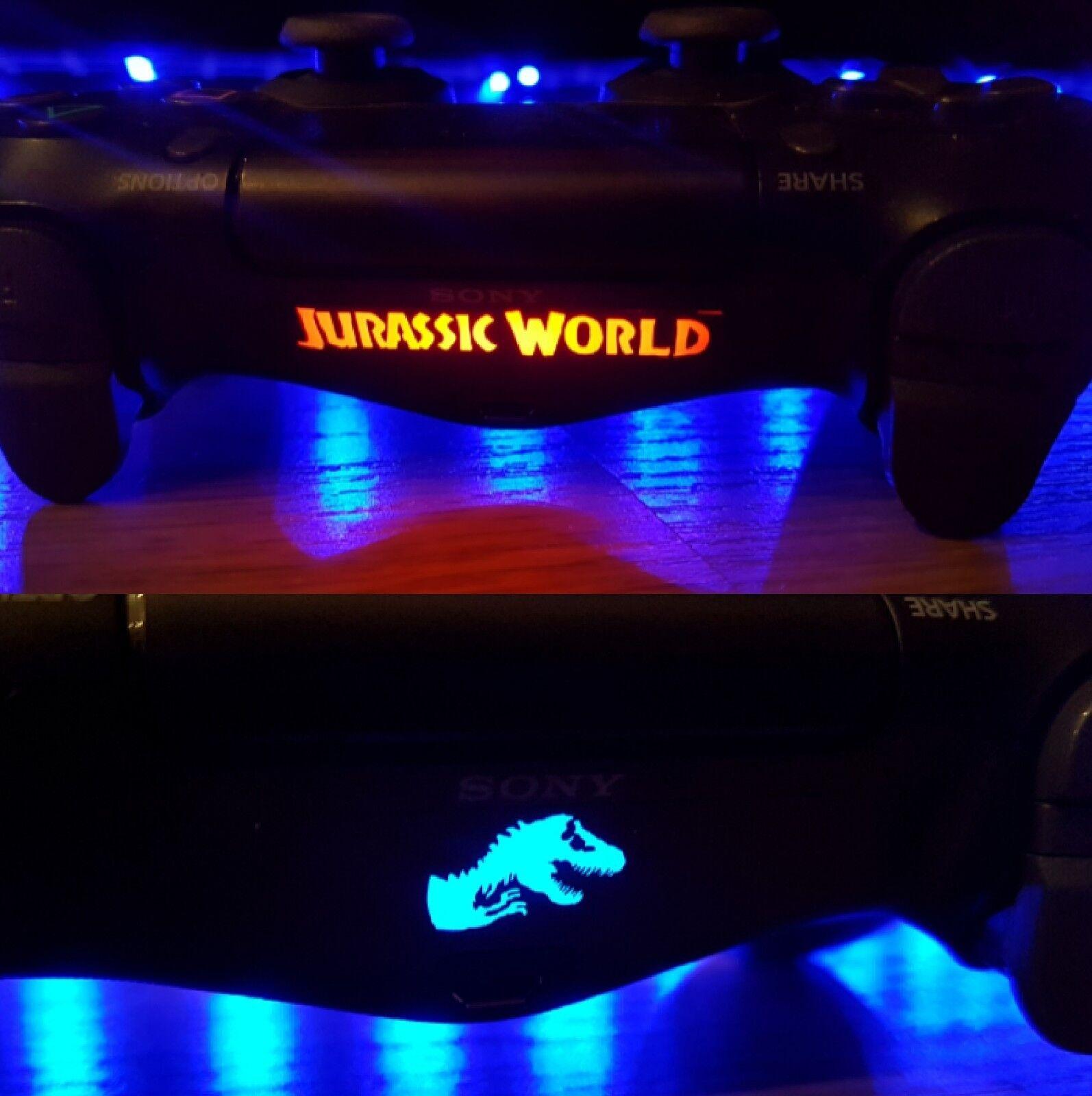 Jurassic World PS4 Controller Light bar 7x Vinyl Decal Sticker Playstation 4