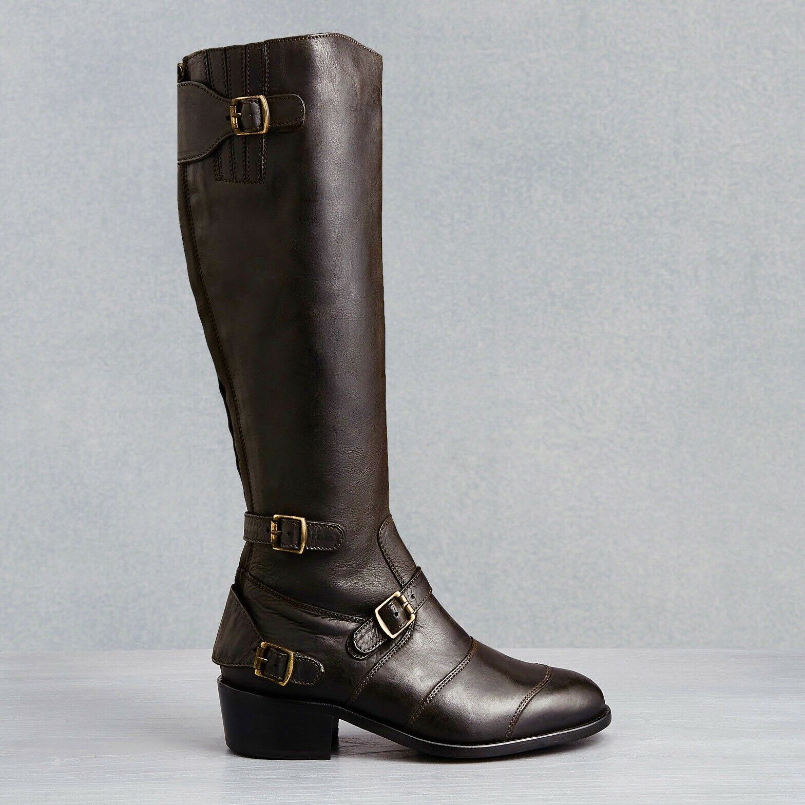 Belstaff TRIALMASTER Brown Leather Boots Size 40 9 9.5 10