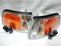 For 92 93 Accord Corner Turn Signal Park Light Lamp Rl H Pair W/light Bulbs