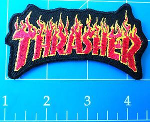 THRASHER FLAMES PATCH, DRESS UP YO RAGGEDY ASS!
