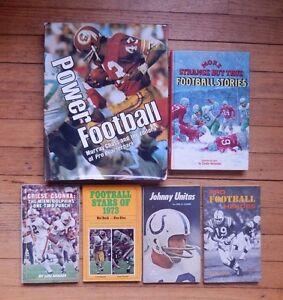 6-Vintage-NFL-Pro-Football-Books