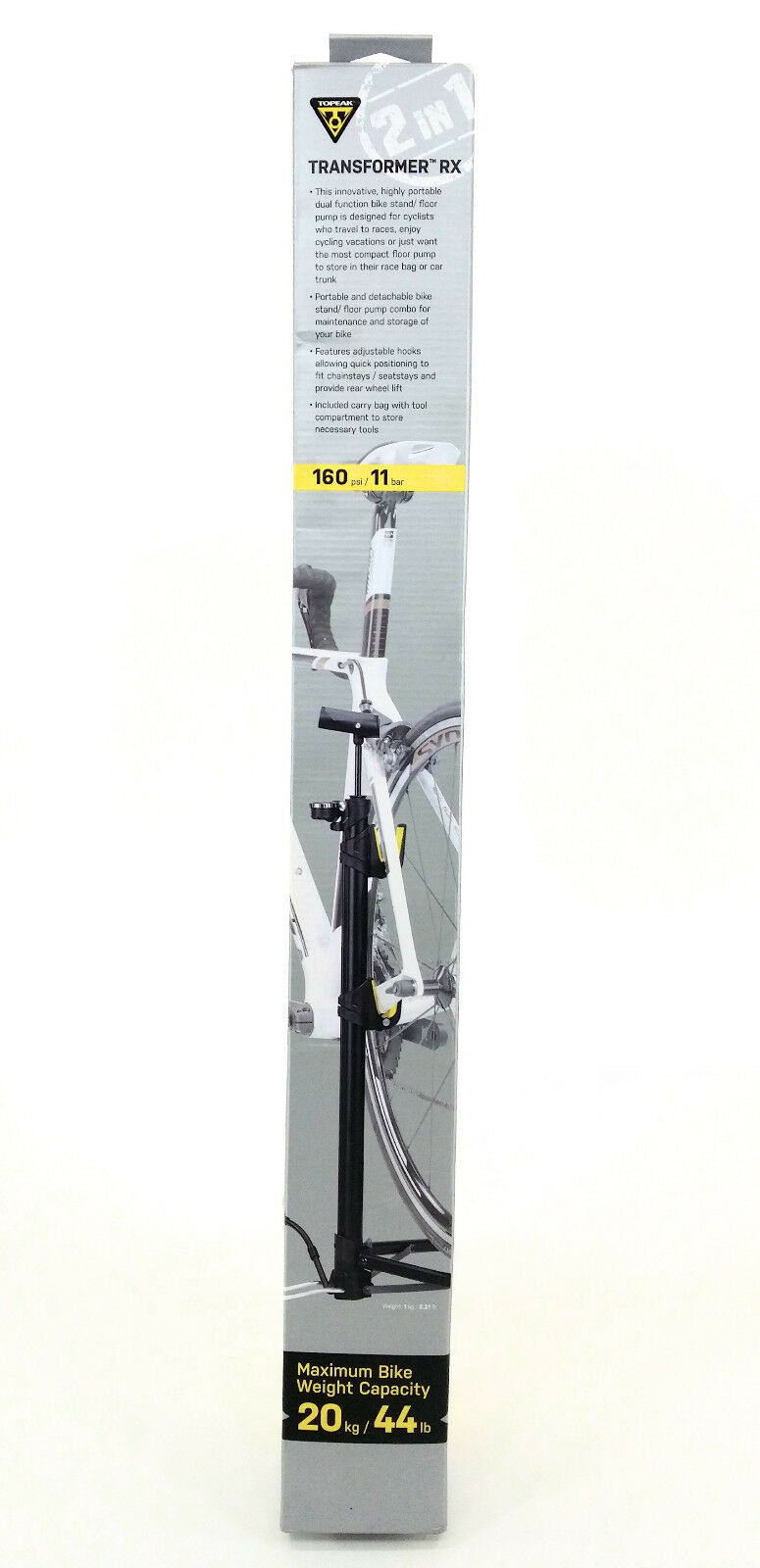Topeak Transformer RX Compact Bicycle Floor Pump with Stand & Travel Bag - TTF-R