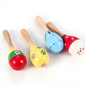 Child-Musical-Instrument-Rattle-Shaker-Party-Toy-Multi-Color-Wooden-Maraca-Gift