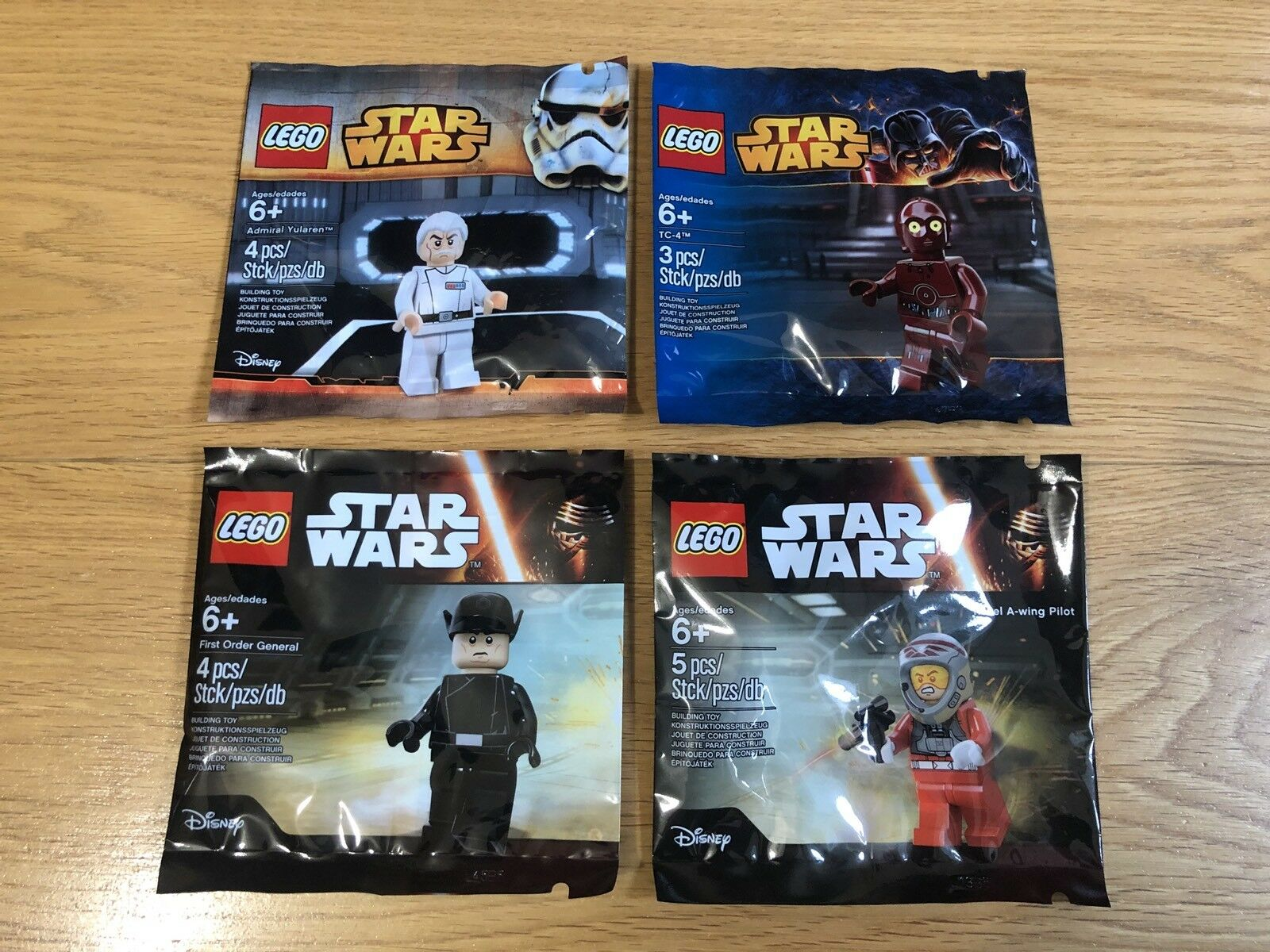SEALED Lego Star Wars 4x Minifigure Polybags Collection EXCLUSIVE