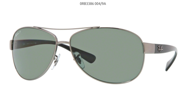 33a6828406 Ray Ban Rb3386 Polarized Gunmetal 004 9a - Size 67 for sale online ...