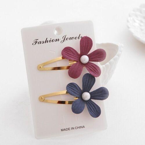 2Pcs Lovely Floral Hairpins Cute Headwear Flower Clip Baby Children Hairpins