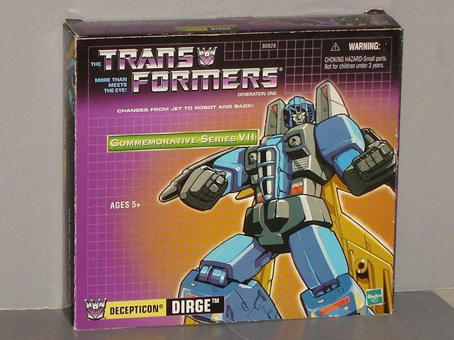 HASBRO TRU COMMEMORATIVE SERIES REISSUE DIRGE MISB SEALED  LOTS OF PICS