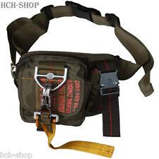 Pure Trash Nylon Bauchtasche Hüfttasche Gürteltasche mit Karabiner 19x7x15 cm