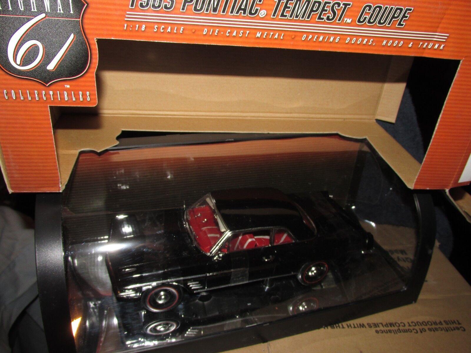 Highway 61 1963 tempestad de Pontiac Coupe 1 18 nero W ruedas stock Interior rosso