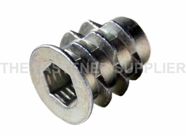 M4 x 10mm Hex Drive Screw In Threaded Insert For Wood (Type D) [20 Pcs] #100005
