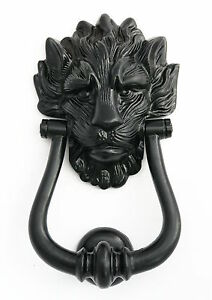 Black Cast Iron Lion S Head Door Knocker Number 10 Downing