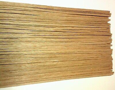 40 Barre Di Legno Quercia 1000 X 6 X 0,6 Mm-mostra Il Titolo Originale