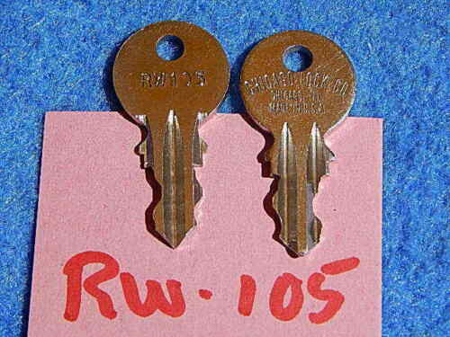 Wurlitzer 3400 3410 3460 cabinet key RW-105