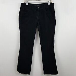Calvin-Klein-Jeans-Black-Boot-Cut-Women-039-s-Corduroys-Pants-Sz-10-32-x-29