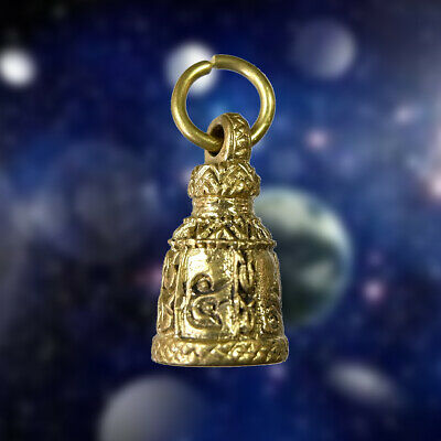 Pendant Talisman Thai Amulet Buddha Bell Takrut Lucky Success Charm Rich Fortune