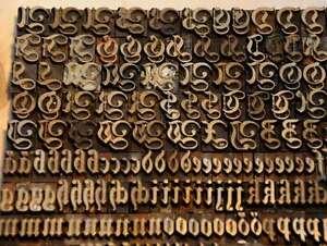 Prageschrift-Fraktur-10mm-Messingschrift-Buchbinder-Messing-Buchbinden-Schrift