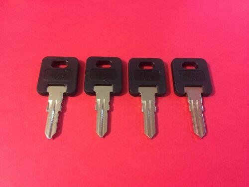 4 FIC RV Black Plastic Head Code Cut Keys EF301 to EF351, CH751-Brass only