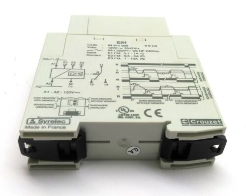 Out: 250VAC 5A In: 100-230VAC Crouzet 84871009 Current Control Relay NO